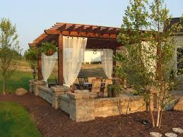 Patio Designs With Pergola by 23 Best Pergola With Fireplace Images On Pinterest Backyard