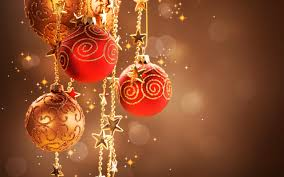 red and gold christmas ornaments u2013 happy holidays