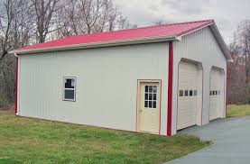 building a 2 car garage pole building garages garage builders in pa