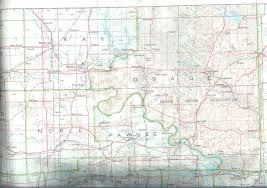 Pawnee Oklahoma Map Counties With All 1900 Enumeration Districts Identified