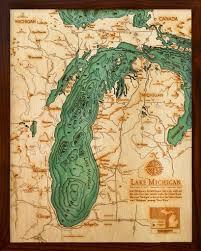 Map Of Holland Michigan by Below The Boat Lake Michigan