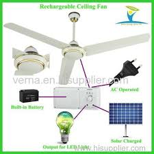 Solar Ceiling Fans by Ac Dc Operated Solar Panel Powered Rechargeable Ceiling Fan Ac230v