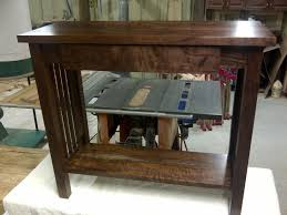 Antique Mission Style Bedroom Furniture Hand Crafted Mission Style Walnut Sofa Table By Db Custom Wood