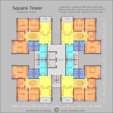 Apartment Building Floor Plans by Square Tower Floor Plan 130 Sqm 5 Room Apartments Plans