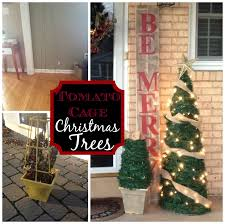 Diy Outdoor Christmas Decorations by Two It Yourself Large Diy Outdoor Christmas Trees From Tomato Cages