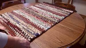Fabric Rug How To Finish A Woven Rag Rug Youtube