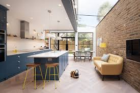 kitchen cabinets wall extension glass wood and steel contemporary rear extension to