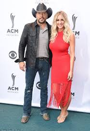 jason aldean and wife brittany kerr at the acm honors in nashville