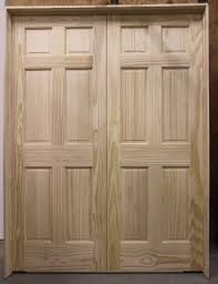 Panel Closet Doors 6 Panel Pine Sliding Closet Doors