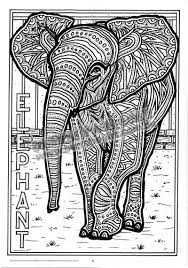Adult Coloring Pages Printable Elephant Free 2975 Adult Coloring Color Ins