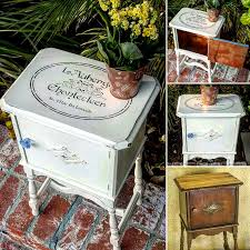 upcycled end table french country home decor party decor ideas