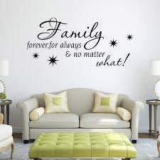 waterproof removable decor stickers wall stickers family forever waterproof removable decor stickers wall stickers family forever english quote for living room muurstickers home decor bloemen in wall stickers from home