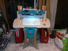 Step Two Art Desk Art Desk For Toddlers Amazoncom Delta Children Chair Desk With