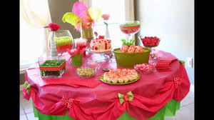 home birthday party table decoration ideas youtube
