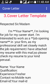 cover letter for freshers cover letter for freshers android apps on google play