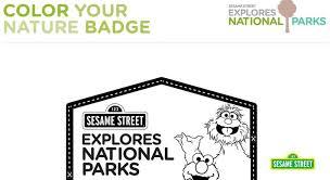 national parks coloring printable sesame street preschool
