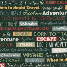 travel words images Destinations travel words gray yardage deborah edwards jpg