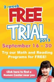 kumon philippines offers 2 weeek free trial 2017