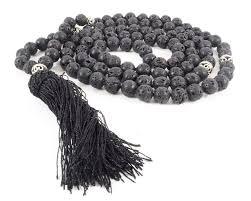 rock stone necklace images Tibetan buddhist 108 black stone lava rock meditation jpg