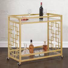 goldtone metal bar cart free shipping today overstock com