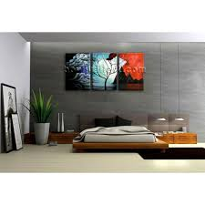 Bedroom Wall Framed Art Large Abstract Landscape Painting Print On Canvas Original Wall