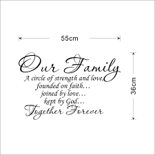 wedding quotes about family aliexpress buy our family together forever quotes letter