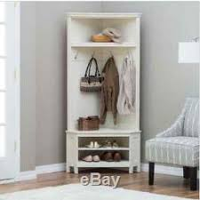 Entryway Storage Bench With Coat Rack White Corner Bench Tree Wood Coat Rack Stand Entryway Storage