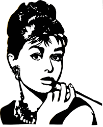 lime silhouette audrey hepburn black and white silhouette google search vector