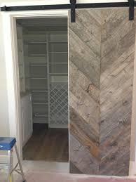 Rustic Barn Door Hardware by Reclaimed Chevron Barn Door Interior Barn Doors Pinterest