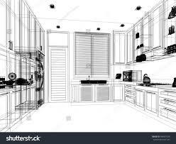 Sketch Kitchen Design by Abstract Sketch Design Interior Kitchen Stock Illustration