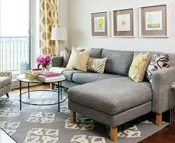 apartment livingroom 20 of the best small living room ideas grey sectional sofa grey