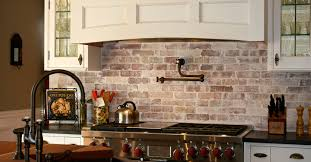 brick backsplash kitchen brick tiles for backsplash in kitchen laphotos co