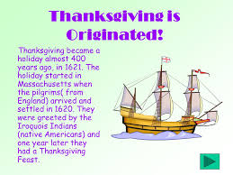 thanksgiving is originated thanksgiving became a almost