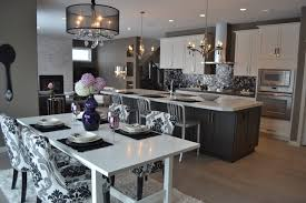 gray and black kitchen houzz