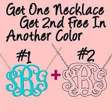 monogram necklace acrylic monogram necklace promotion buy one get one free made custom