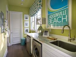 green and turquoise blue laundry room contemporary laundry
