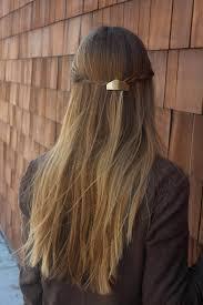 metal hair metal hair clip brass hair barrette minimalist hair clip