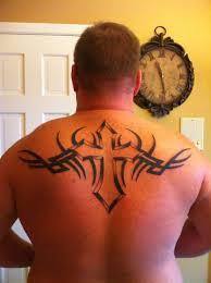 back tribal cross designs