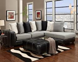 Black And White Sectional Sofa Furniture Black And White Living Room Rug Along With L Shape