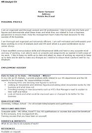 Resume For Financial Analyst Experienced Hr Analyst Resume Human Resources Analyst Resume
