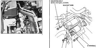 1998 honda accord starter solenoid solved where is located the starter on the honda accord fixya