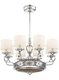 taurus 6 light air ionizing fan d lier levantara air ionizing fan d lier in polished chrome pretty lights