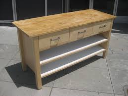 kitchen island drawers furniture butcher block island with three drawers and shelving