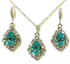 turquoise bridal earrings something blue turquoise bridal jewelry earrings necklace set