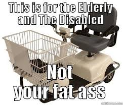 Shopping Cart Meme - to those who share the meme about using disabled shopping carts