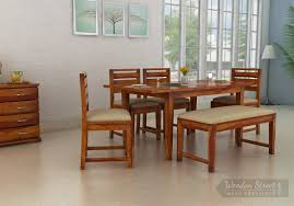 expandable dining set buy extendable dining table woodenstreet
