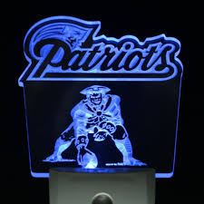 new england patriots lights new england patriots 4 by 4 led night sensing light england