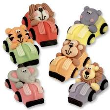 cars cake toppers zoo animals racing cars iced cake toppers decorations 3d figures