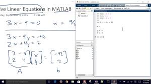 solving linear system of equations with matlab solve build your own arduino board led
