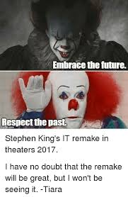 Stephen King Meme - 25 best memes about stephen king it stephen king it memes